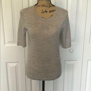Banana Republic Wool Gray Short Sleeve Shirt